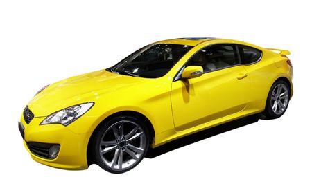shiny car: Gele sportwagen Stockfoto