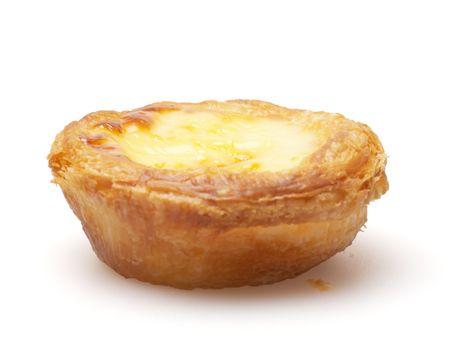 egg tart isolated on white background photo