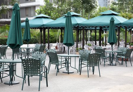 outdoor cafe: outdoor cafe Stock Photo