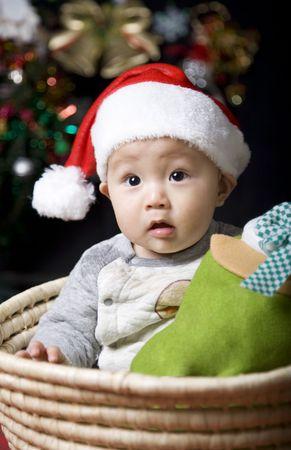 christmas santa baby  photo