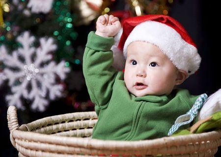 cute santa baby Stock Photo - 5982275