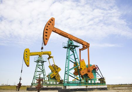 extraction: oil pump jack  Stock Photo