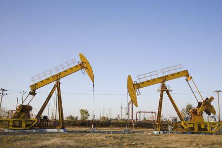 puits de petrole: puits de p�trole  Banque d'images