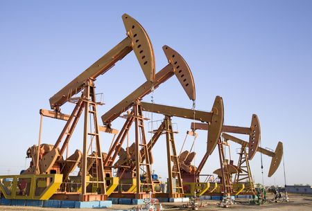 pumpjack: oil well Stock Photo