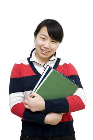 asian girl student Stock Photo - 6497061