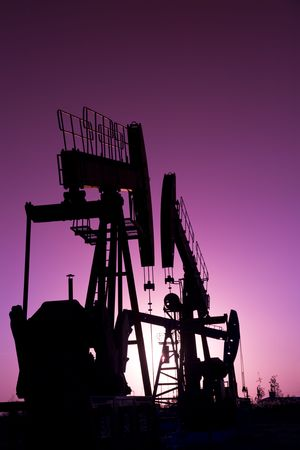 Silhouette of oil pump  photo