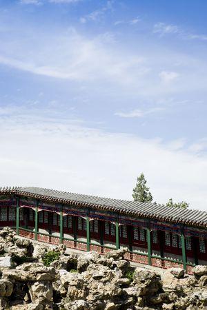 elevated walkway: old elevated Walkway in Chinese garden