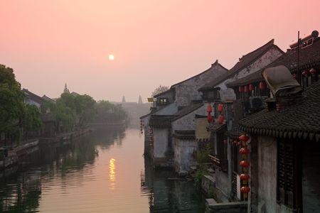 zhouzhuang: sunrise of zhouzhuang Stock Photo