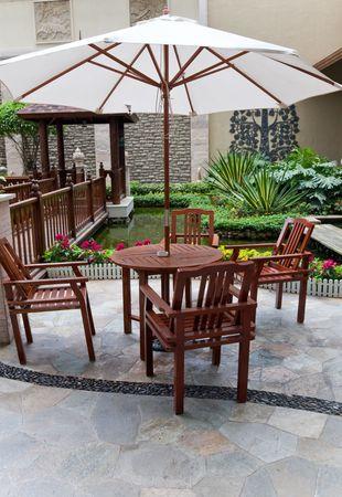 patio in garden photo