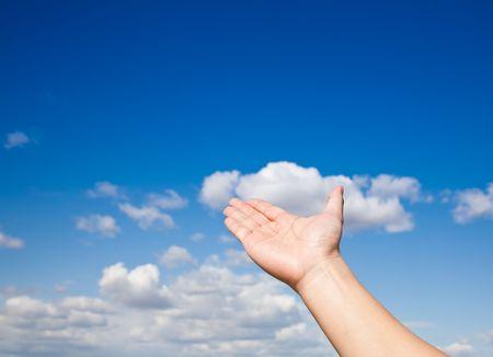 Hand reach sky Stock Photo - 7934028