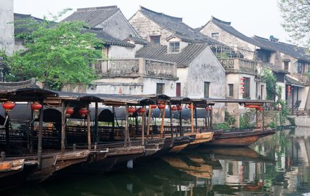 riverside county: ancient water town in China