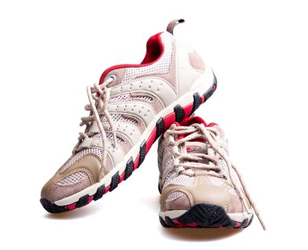 pratice: Sports shoes Stock Photo
