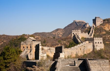 ancient brick wall: The Great Wall, Beijing, China.