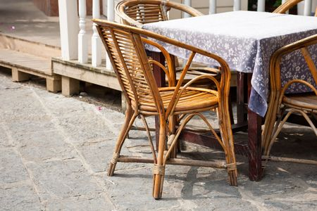 House patio with table and chair Stock Photo - 8208067