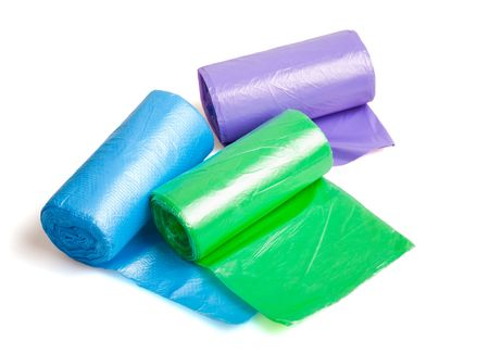 Disposable bags rolls photo