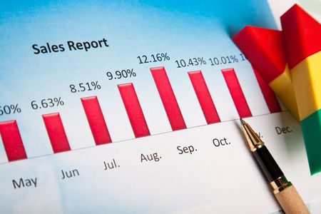 financial  chart Stock Photo - 8241000