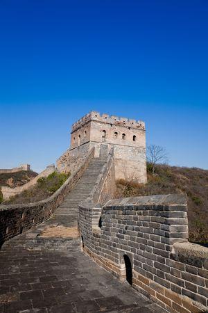 muralla china:  Torre de la gran muralla de China, Beijing, China