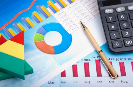 financial graph Stock Photo - 8629677