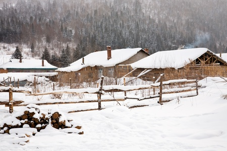 Rural winter landscape photo