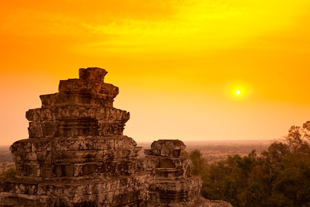 Cambodia Sunset photo