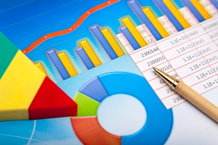 calculations: Financial graph Stock Photo