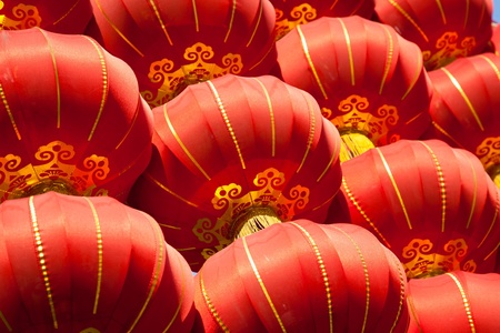 chinese temple: Red lanterns