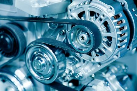 industrial mechanics: Motor de autom�vil Foto de archivo
