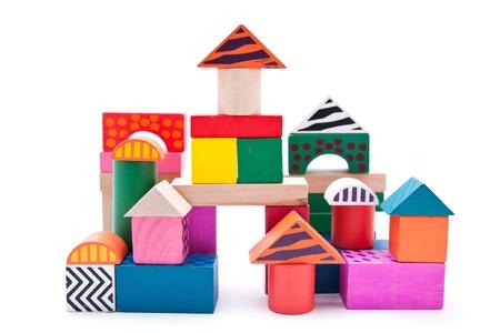 Colorful building blocks photo
