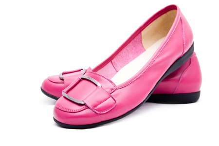 female pink shoes photo