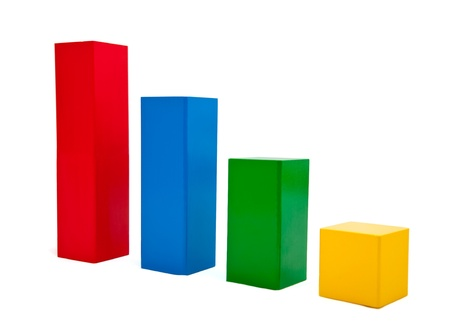 growth chart: bar graph, Isolated on white with clipping path