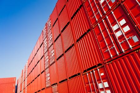 Cargo containers Archivio Fotografico