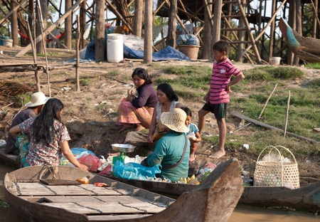 Cambodian floating village Stock Photo - 10368556