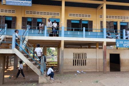 Children at school, Cambodia