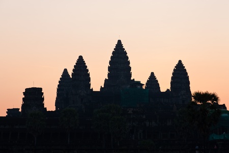 Angkor wat silhouette photo