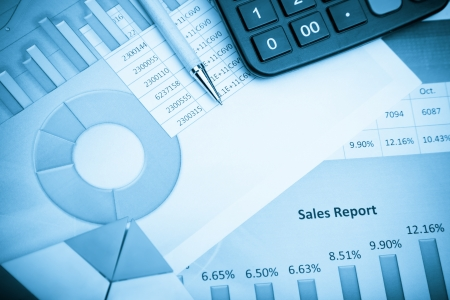 financial analysis: Financial report Stock Photo