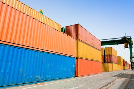 Container harbor Stock Photo - 10628946