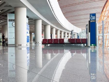 出発エリア、北京国民空港第 3 ターミナル、中国 報道画像