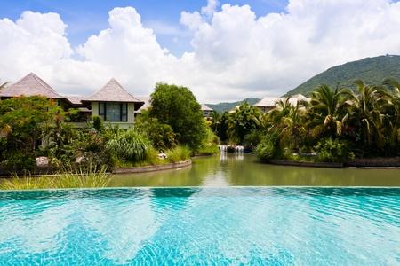 sap: beautiful resort pool at Yalong Bay Villas & Spa, Hainan Island, China