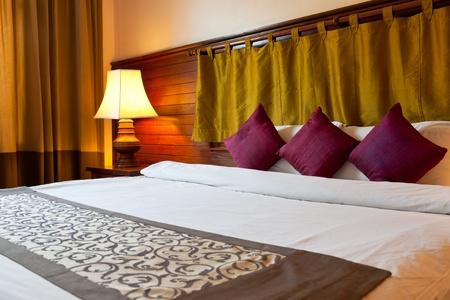 bedspread: interior of hotel room, Princed Angko rHotel & Spa, Siemreap, Cambodia