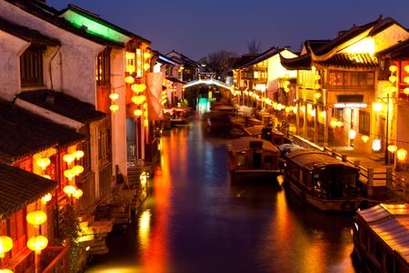 中国蘇州夜 写真素材