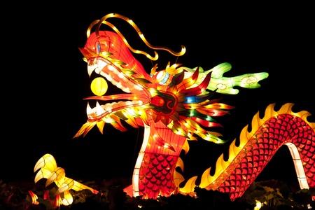 dragones: Festival de las linternas de drag�n para la celebraci�n del A�o Nuevo chino. Foto de archivo