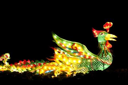 Festival phoenix  lanterns for celebration Chinese new year. photo
