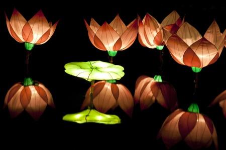 lotus lantern: festival lotus lantern Stock Photo