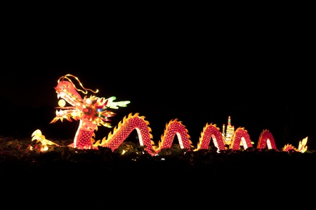 magical equipment: Festival dragon lanterns for celebration Chinese new year.