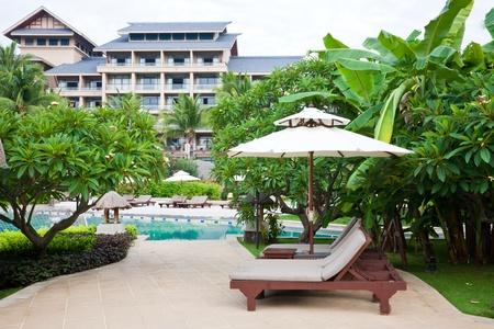 Resort Garden, Hilton Sanya Resort Spa, Hainan Island, China Stock ...