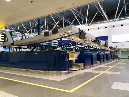 airport check in counter: Airport Check-in Counters, Beijing International Airport, China Editorial