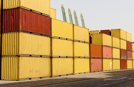 cargor containers  at harbor Stock Photo - 11552177