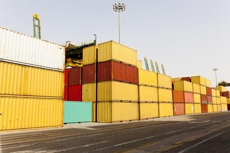 Stacks of cargor blocks at harbor Stock Photo - 11433357