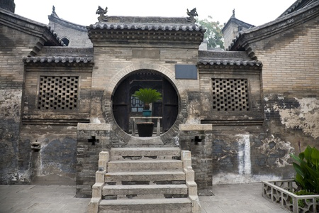 Ancient Chinese building at Wangs Grand Courtyard, Shanxi province.