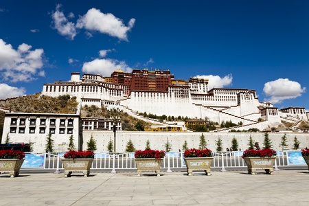 Potala Palace at Lhasa, Tibet, China.